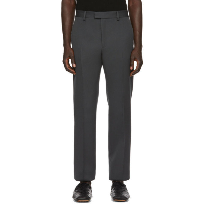 Photo: Bottega Veneta Grey Compact Wool Trousers