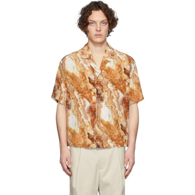 Photo: Deveaux New York Brown Silk Resort Shirt
