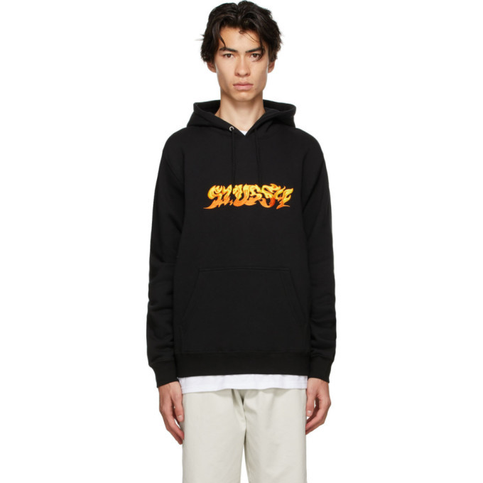 Photo: Stussy Black Fire Hoodie