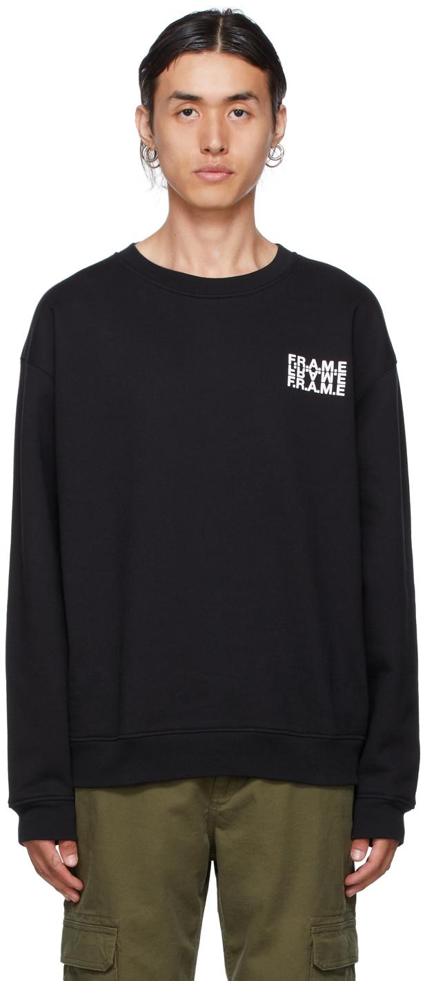 Photo: Frame Black Graphic Sweatshirt