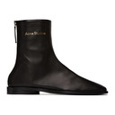 Acne Studios Black Branded Ankle Boots