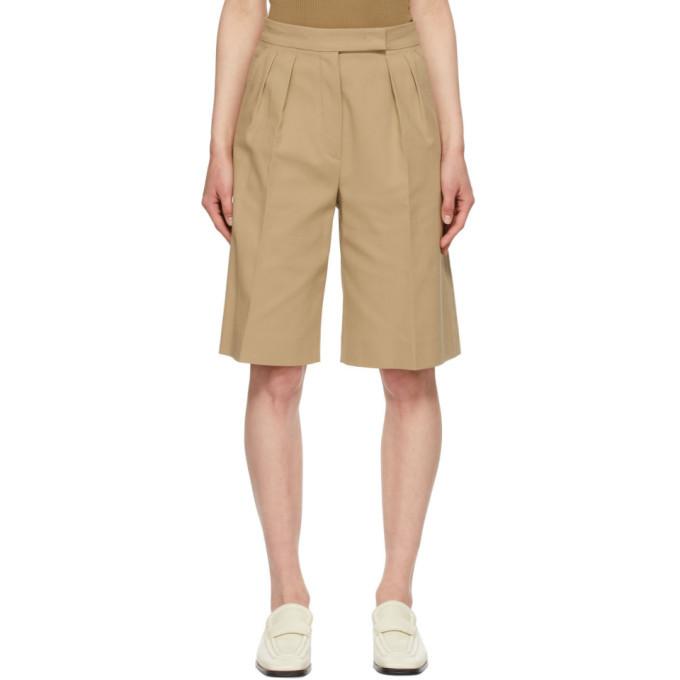 Max Mara Tan Ottuso Bermuda Shorts