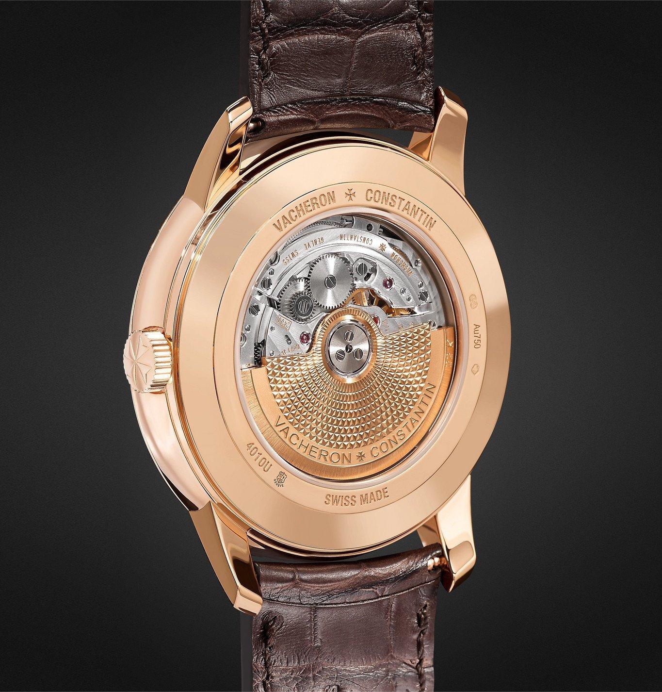 Vacheron Constantin - Patrimony Moon Phase and Retrograde Date Automatic 42.5mm 18 Karat Pink Gold and Alligator Watch, Ref. No. 4010U/000R-B329 - Unknown