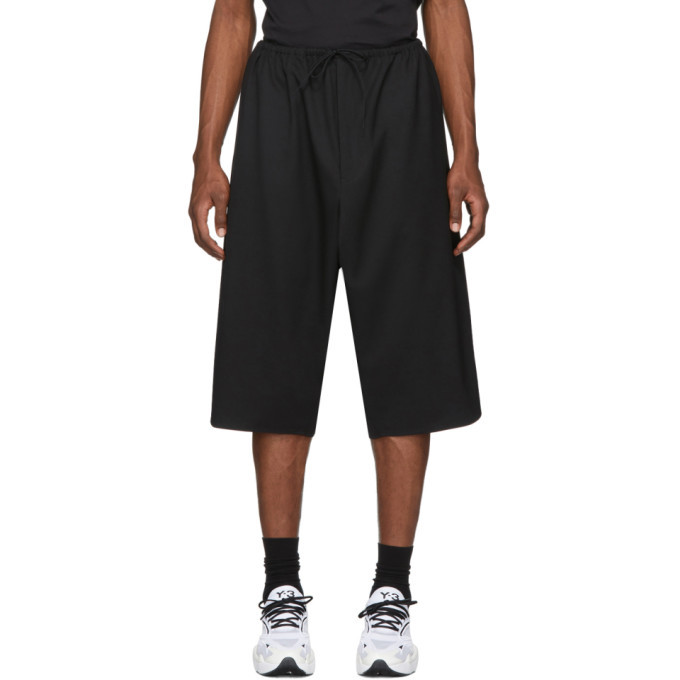 Photo: Y-3 Black 3-Stripes Shorts