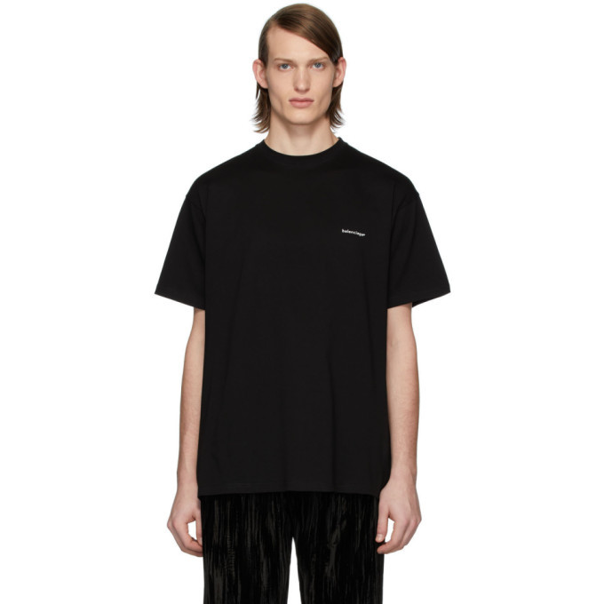 Photo: Balenciaga Black Small Logo T-Shirt