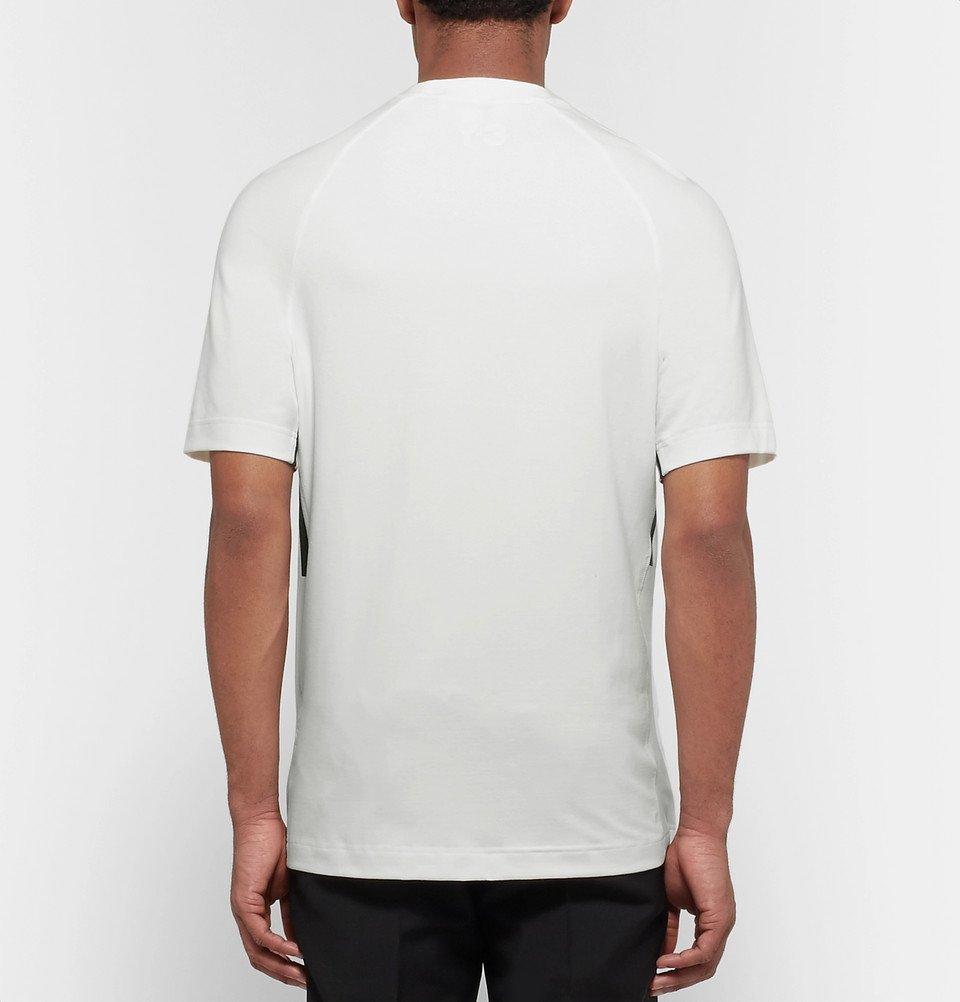 Y-3 - Printed Cotton-Blend Jersey T-Shirt - Men - White