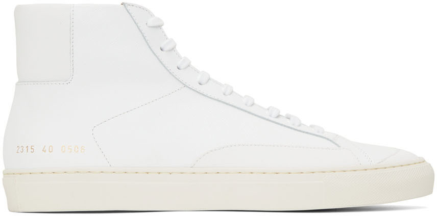 Photo: Common Projects White Achilles High Sneakers