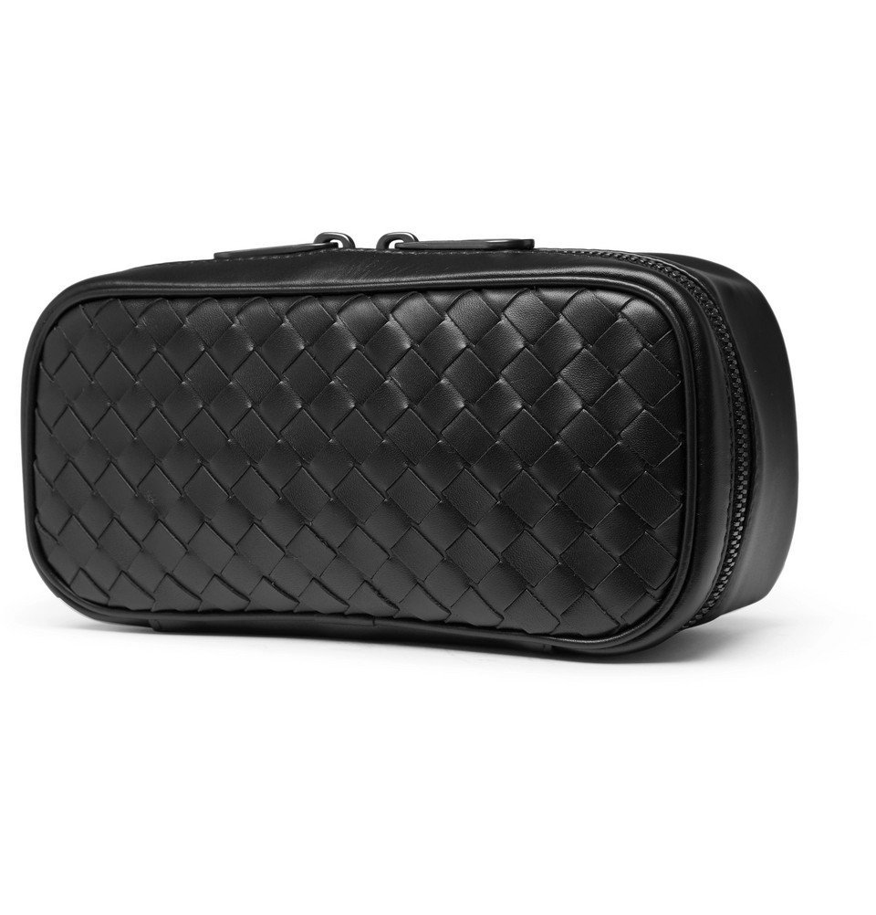 Bottega Veneta - Intrecciato Leather Watch Roll - Men - Black