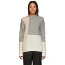 3.1 Phillip Lim Multicolor Colorblocked Lofty High Low Sweater