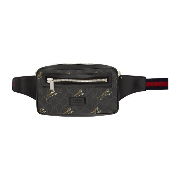 Photo: Gucci Black GG Tiger Belt Bag