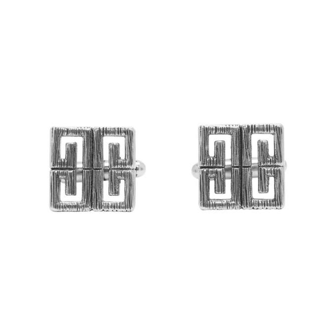 Photo: Givenchy Silver 4G Cufflinks