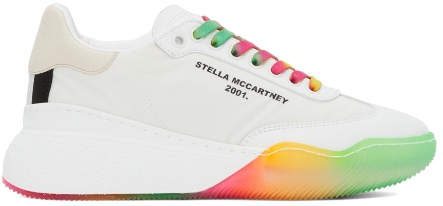 Photo: Stella McCartney White & Multicolor Loop Sneakers