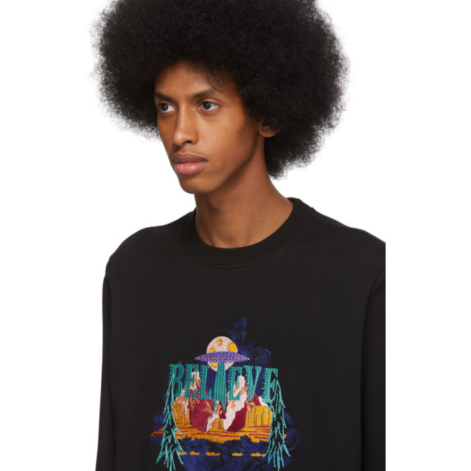 PS by Paul Smith Black UFO Believe Sweatshirt