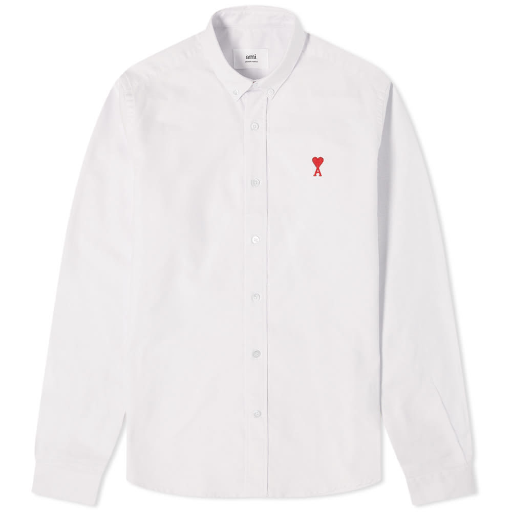 Photo: AMI Logo Button Down Oxford Shirt