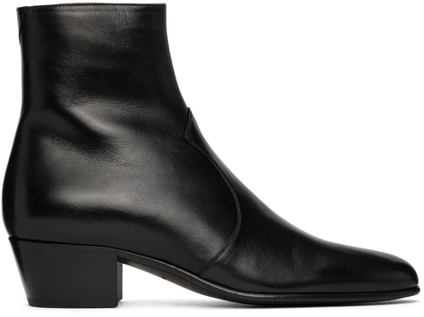 Photo: Saint Laurent Leather Joey 45 Boots