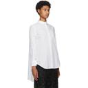 Sacai White Poplin Drop-Tail Shirt