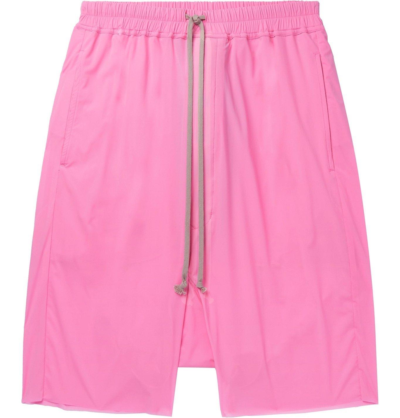 Photo: RICK OWENS - Pods Stretch-Nylon Drawstring Shorts - Pink