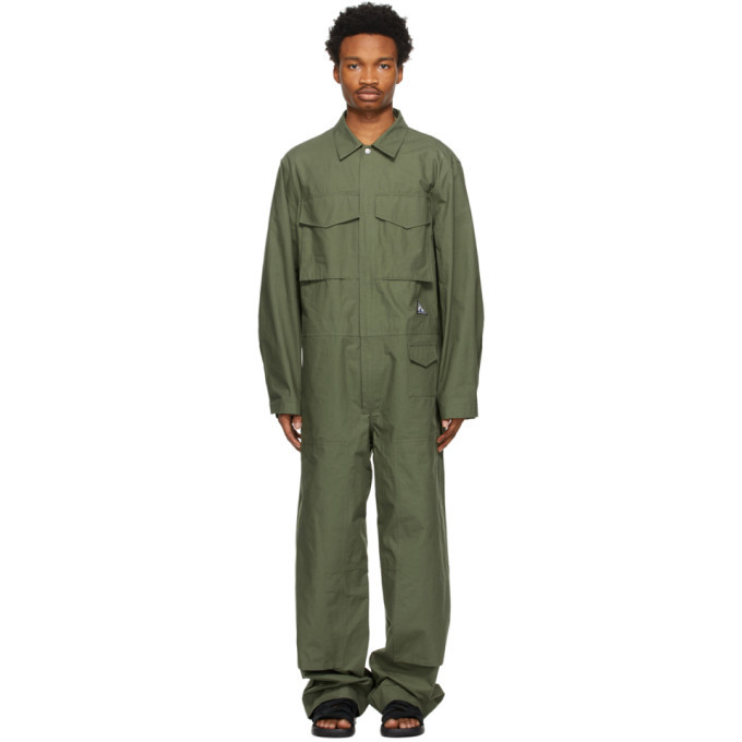 Photo: Jil Sander Khaki Workwear Jumpsuit