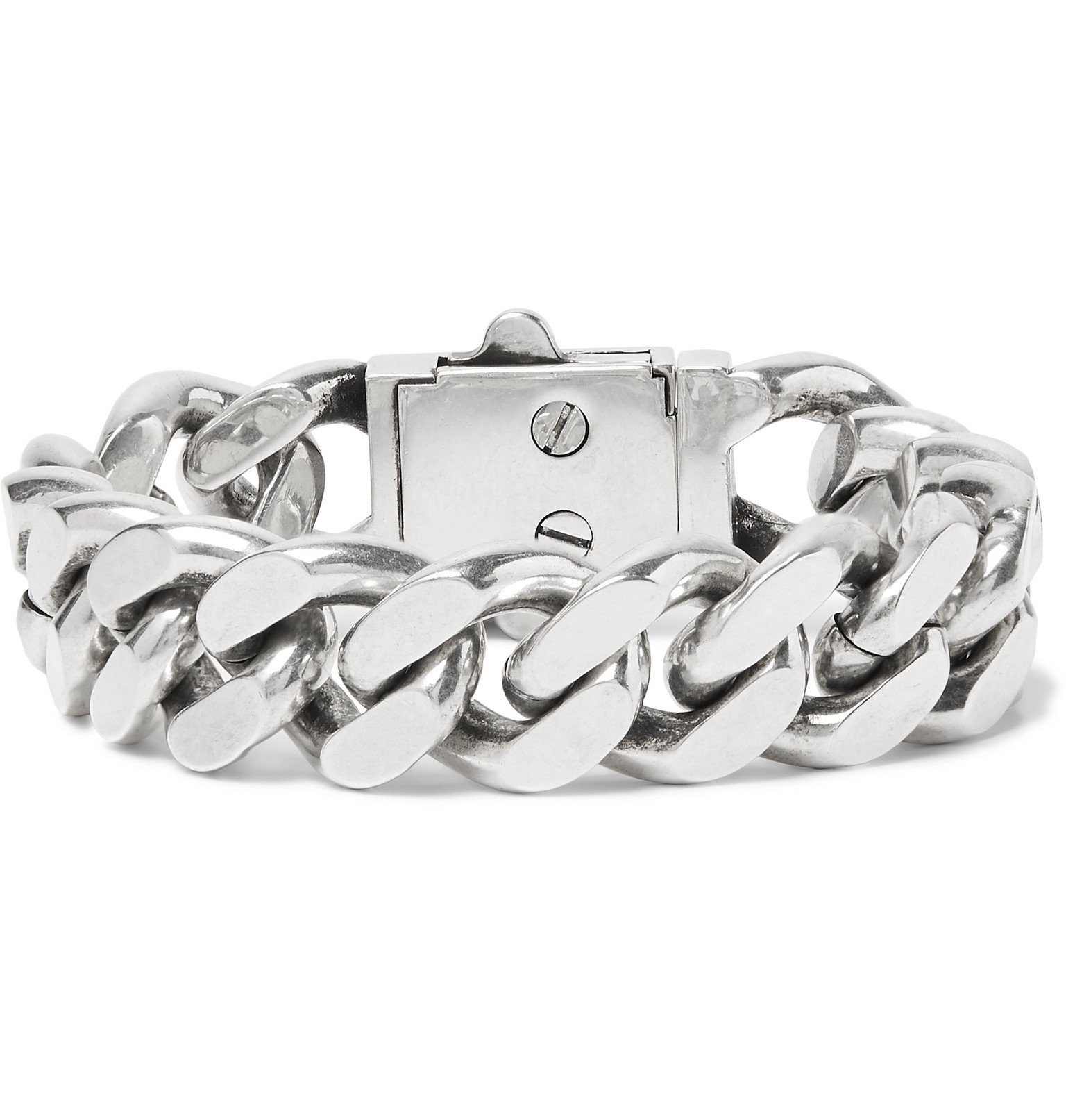 Photo: SAINT LAURENT - Silver-Tone Chain Bracelet - Silver