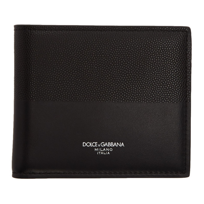 Photo: Dolce and Gabbana Black Bimaterial Wallet