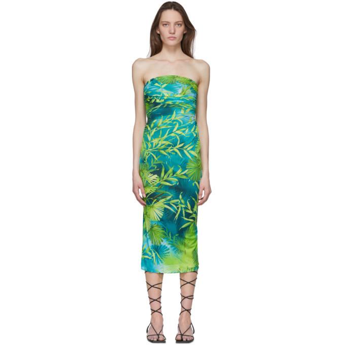 Versace Green Jungle Print Dress