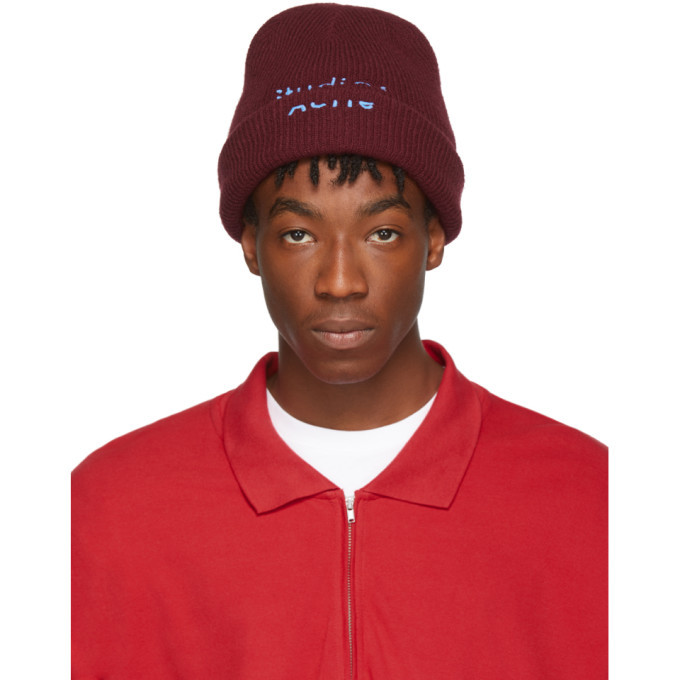 Photo: Acne Studios Red and Blue Reed Beanie