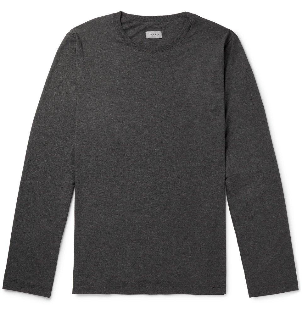 Hanro - Mélange Stretch-Jersey T-Shirt - Gray