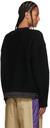 Sacai Black Knit Satin Hem Sweater