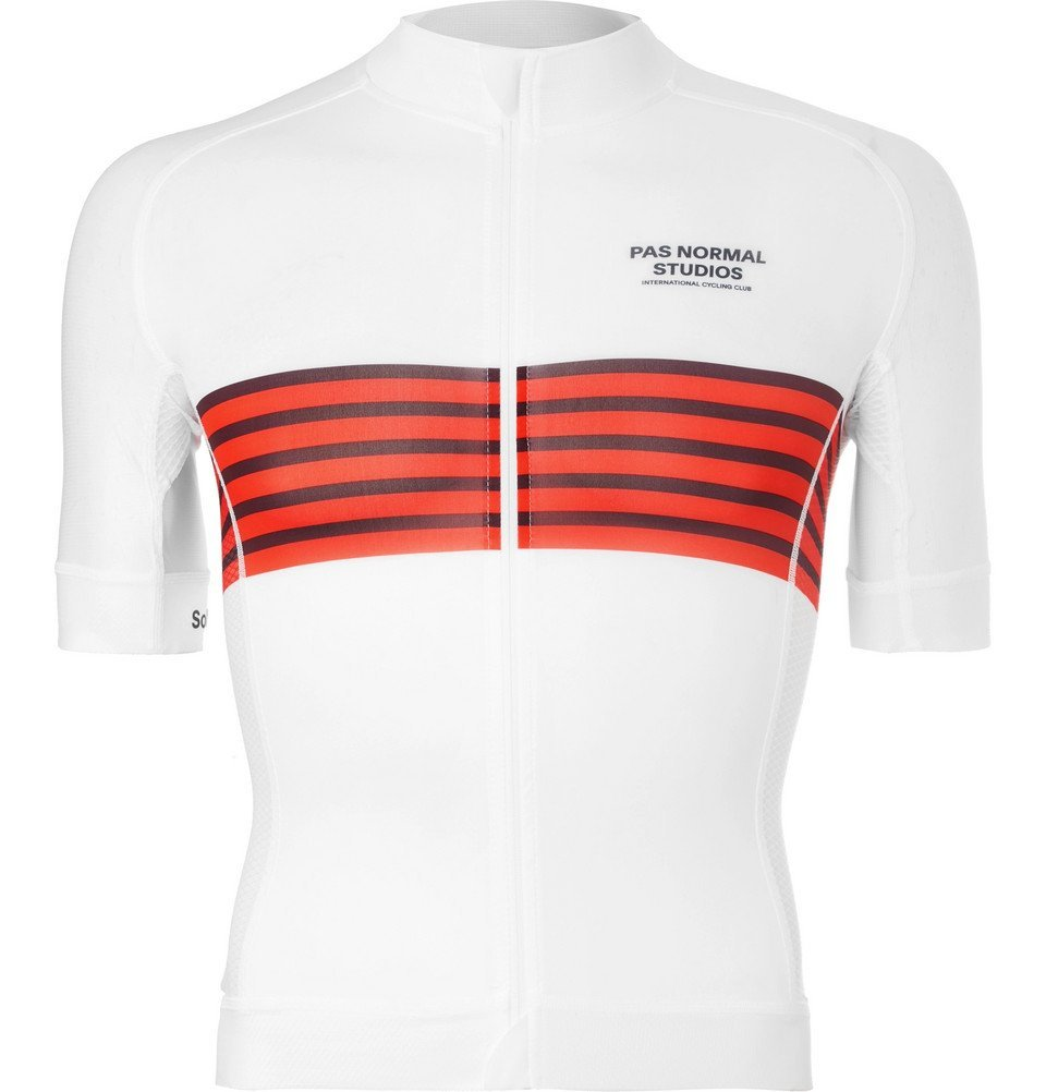 Photo: Pas Normal Studios - Solitude Zip-Up Cycling Jersey - Men - White