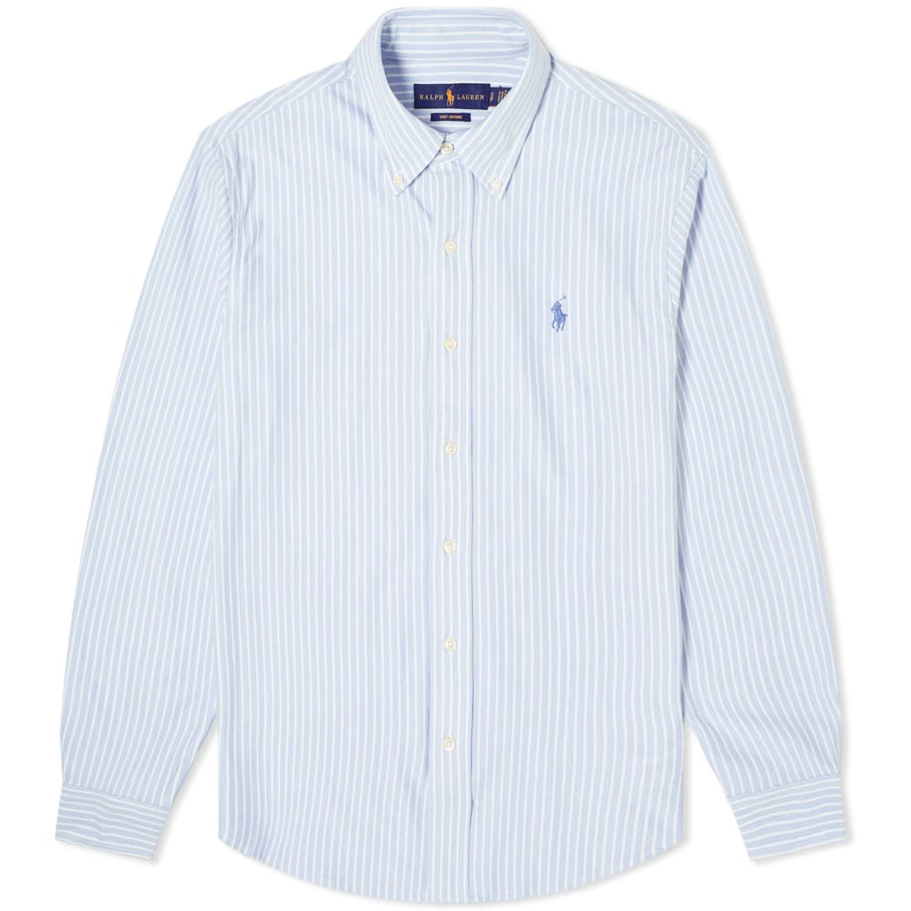 Photo: Polo Ralph Lauren Button Down Striped Pique Shirt