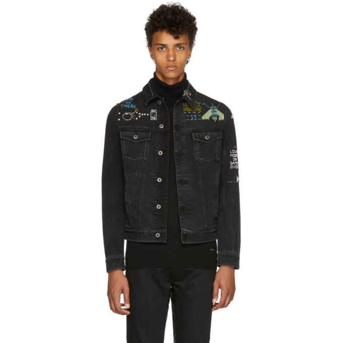 Photo: Valentino Black Denim Video Game Jacket