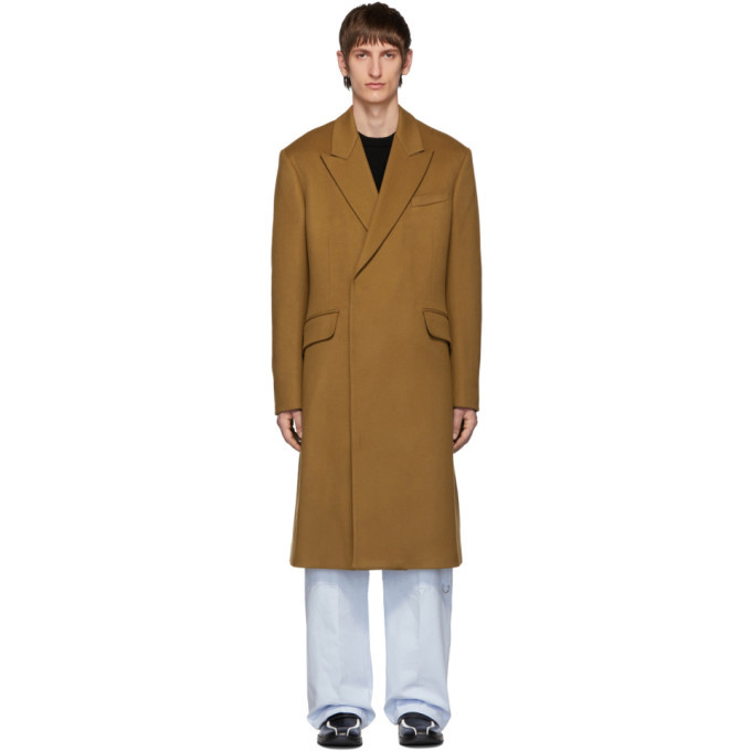 Photo: Raf Simons Brown Wool Double Breasted Coat