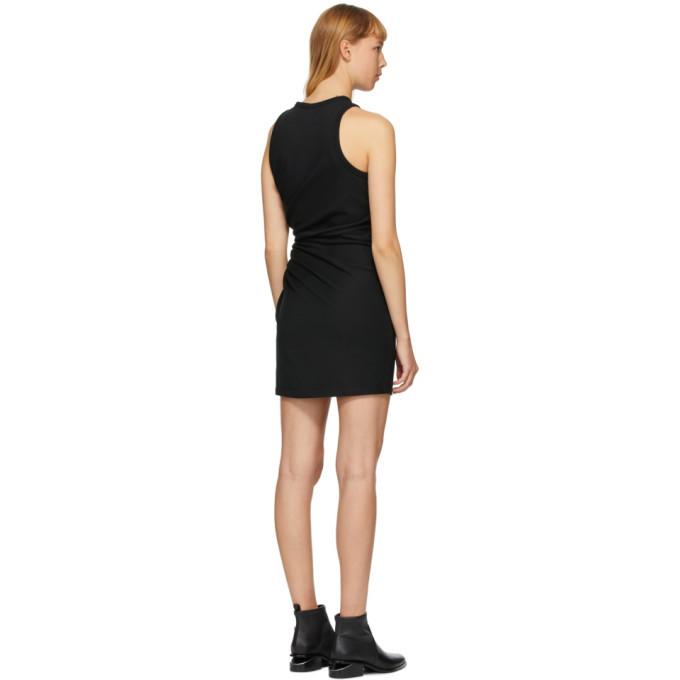 alexanderwang.t Black Jersey Fitted Twist Short Dress