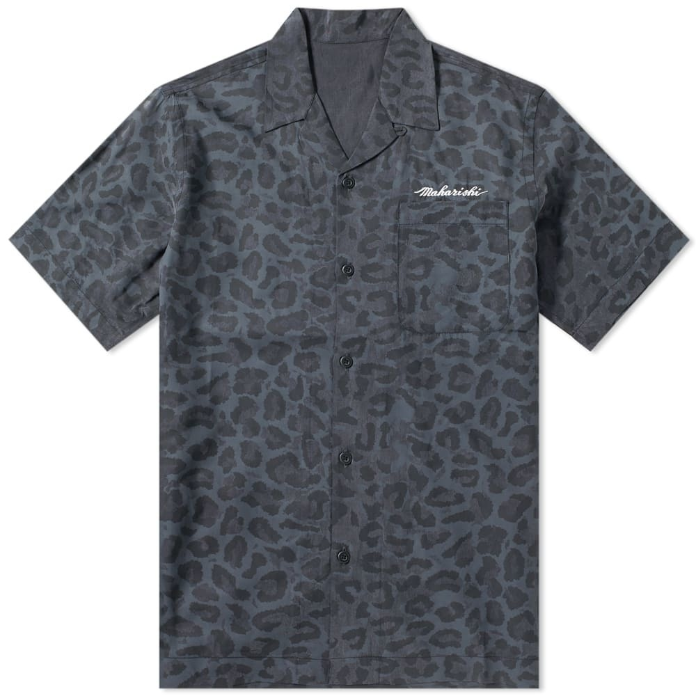 Photo: Maharishi Short Sleeve Leopard Camo Vaction Shirt Night