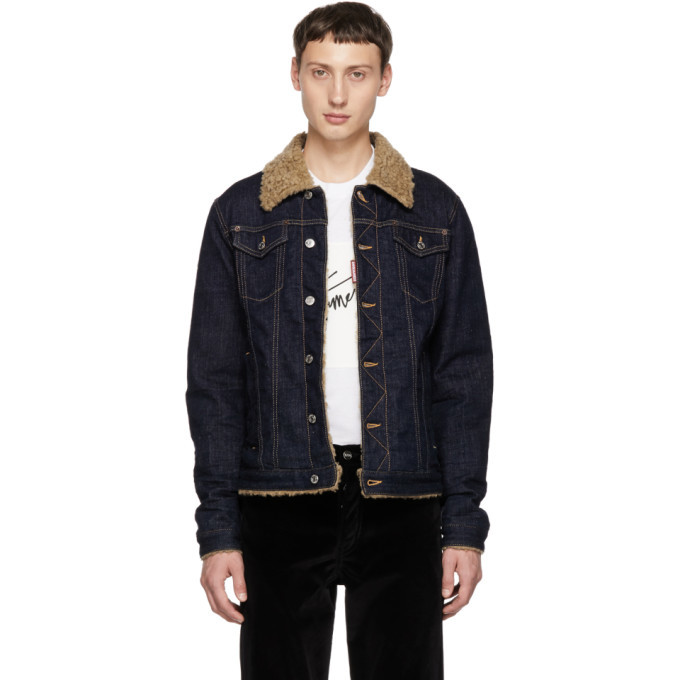 Photo: Dsquared2 Blue Dan Jean Shearling Denim Jacket