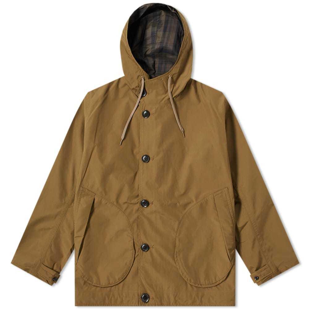 Photo: Nanamica Nylon Gore-Tex Cruiser Jacket Beige & Olive Check
