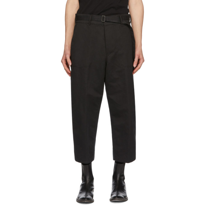 Photo: Haider Ackermann Black Workwear Trousers