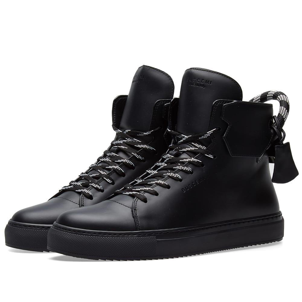 Photo: Buscemi 125MM Corda Leather High Sneaker