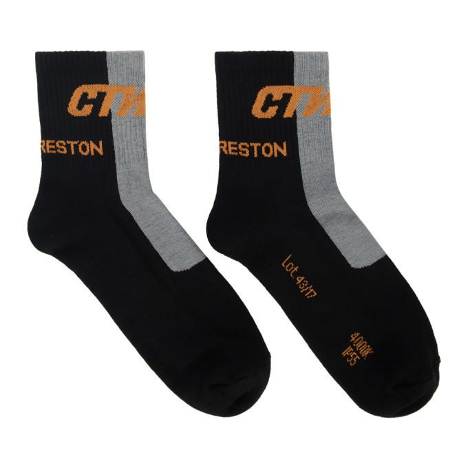 Photo: Heron Preston Black and Grey Short Style Socks