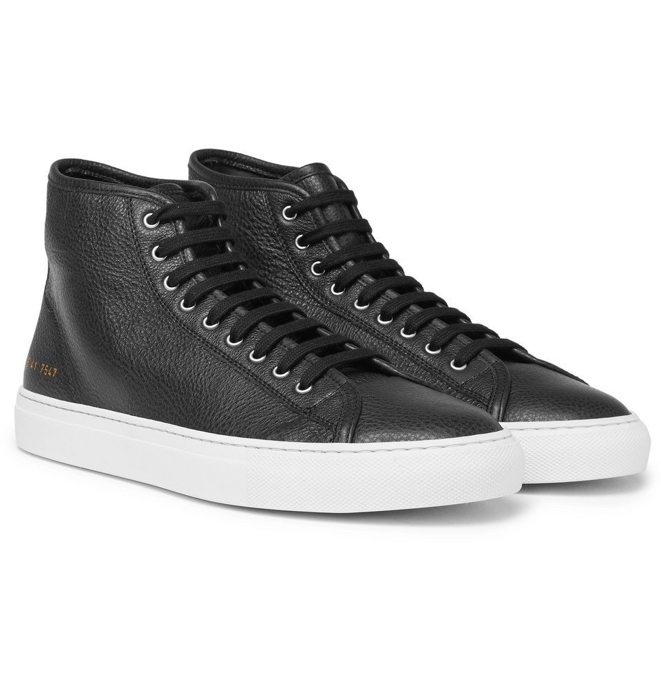 Common Projects - Tournament Full-Grain Leather High-Top Sneakers - Men - Black