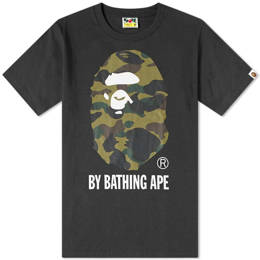 Photo: A Bathing Ape 1st Camo By Bathing Tee Black & Green