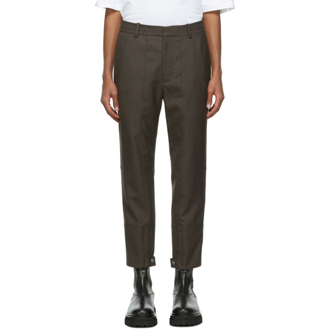 Photo: 3.1 Phillip Lim Grey Cropped Biker Trousers