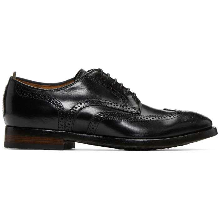 Photo: Officine Creative Black Princeton 33 Brogues