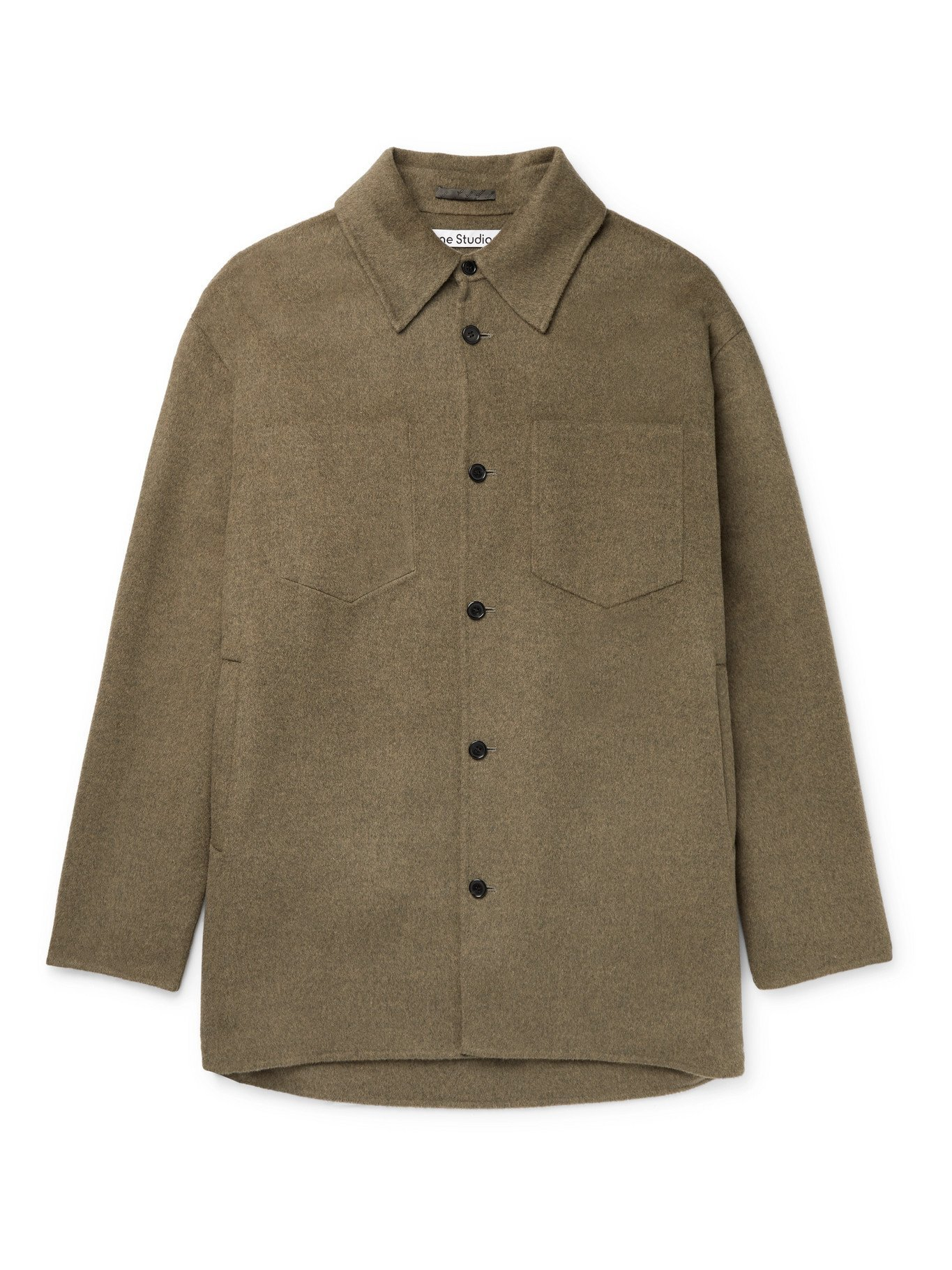 Photo: ACNE STUDIOS - Domen Oversized Double-Faced Wool Overshirt - Green