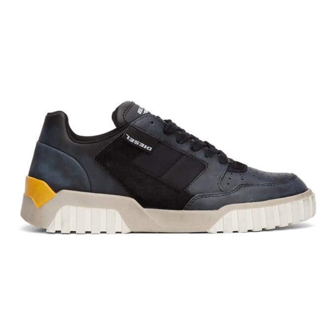 Photo: Diesel Black S-Rua Low 90 Sneakers