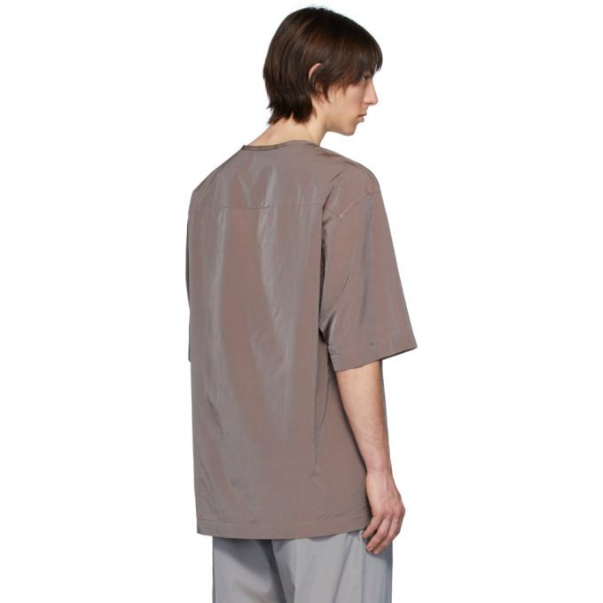 Lemaire Burgundy Half-Sleeve T-Shirt