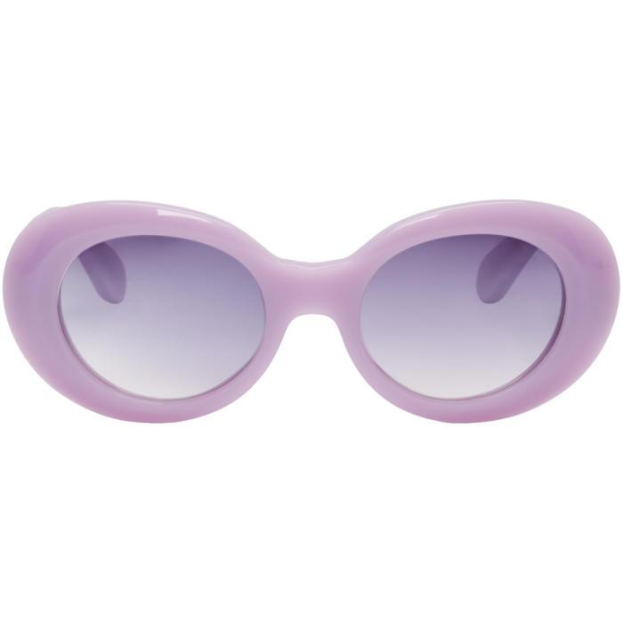 Photo: Acne Studios Purple Mustang Sunglasses