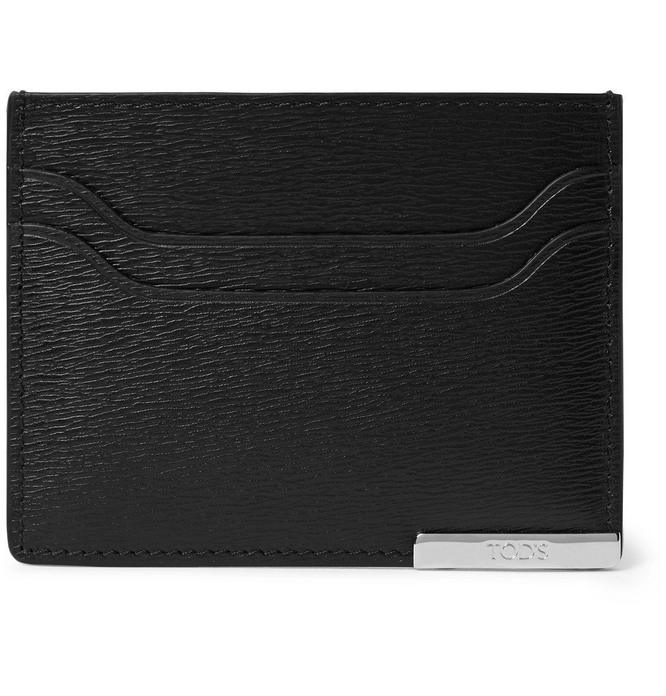 Photo: Tod's - Textured-Leather Cardholder - Men - Black