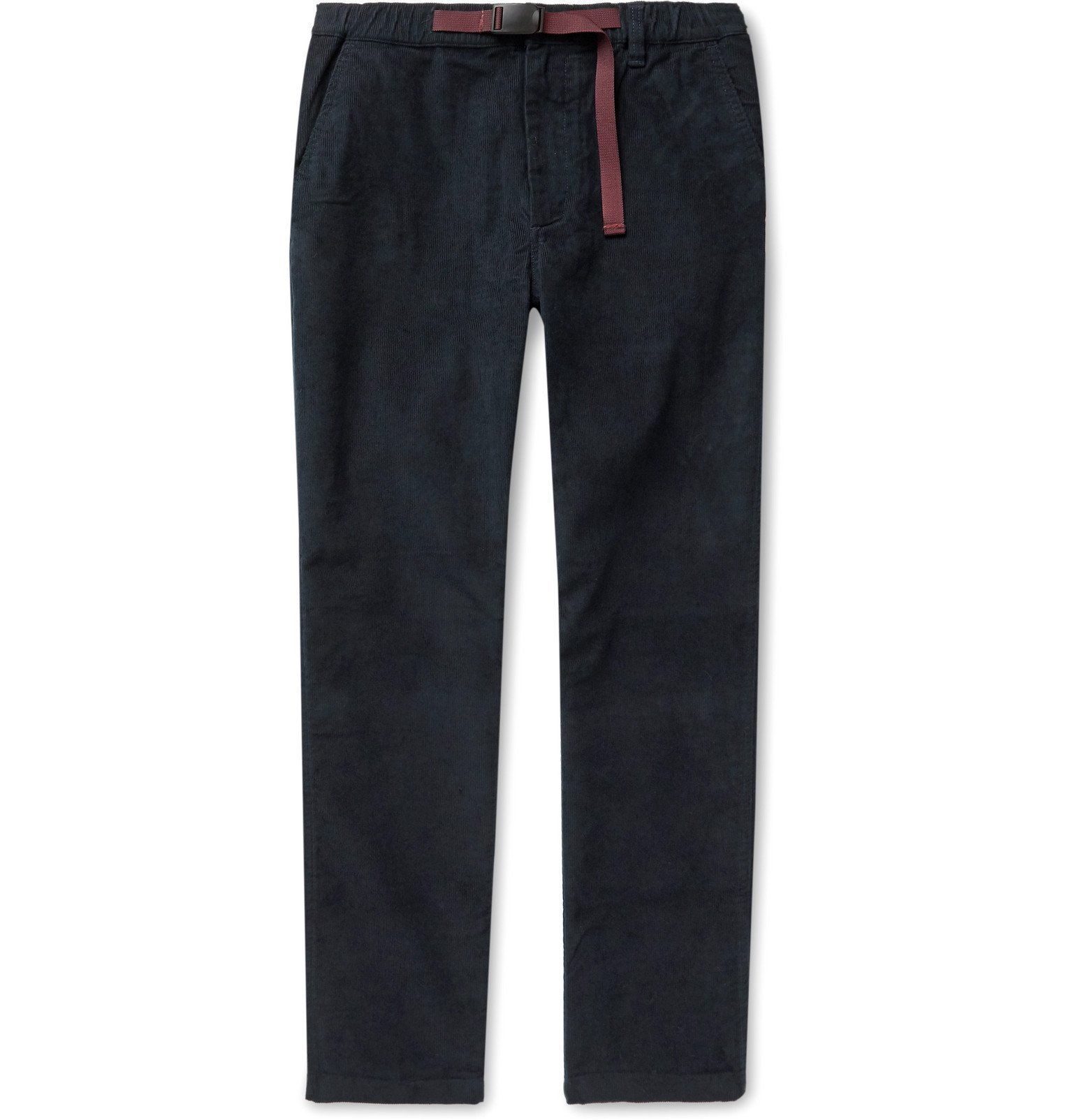 Photo: J.Crew - Slim-Fit Belted Stretch-Cotton Corduroy Trousers - Blue