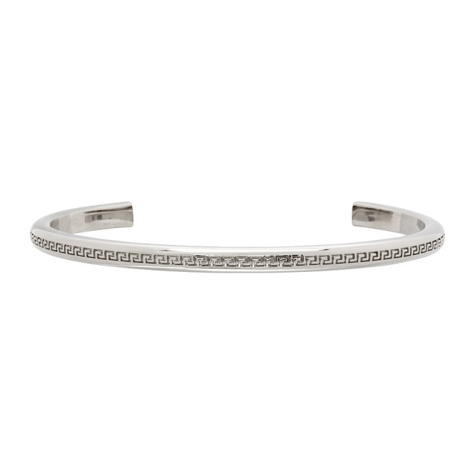 Photo: Versace Silver Greca Bracelet